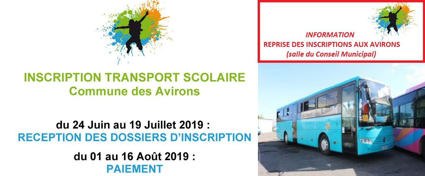 Inscription transport scolaire 2019-2020